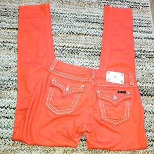 MISS ME Stitched Border Accent Flap Pocket Pants